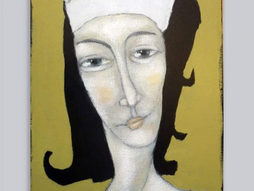 Schilderij Vrouw haarband