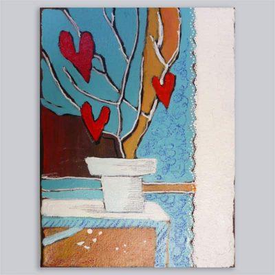 Schilderij Hartjesplant