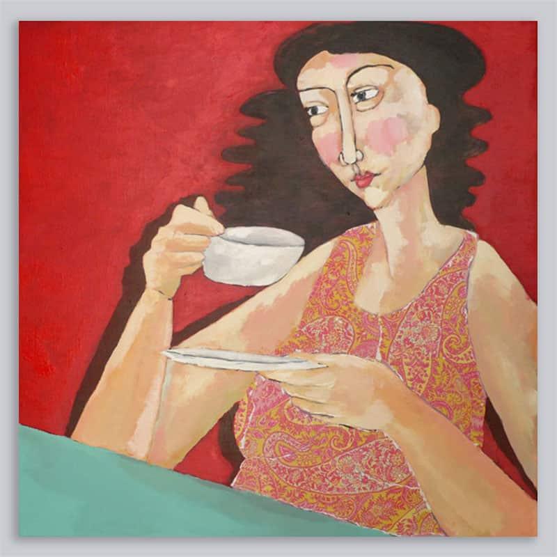 Schilderij Vrouw Patroon 3
