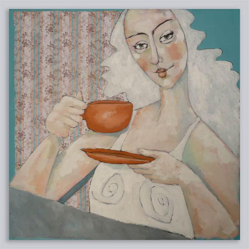 Schilderij Vrouw Patroon 4