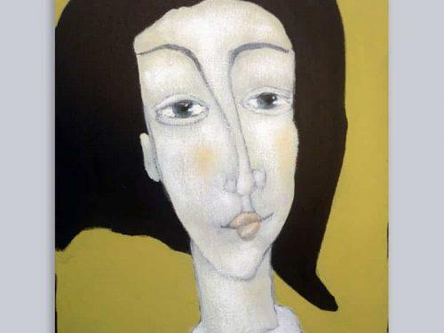 Portret zwarte haren