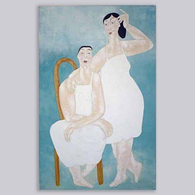 Schilderij Zwevende stoel