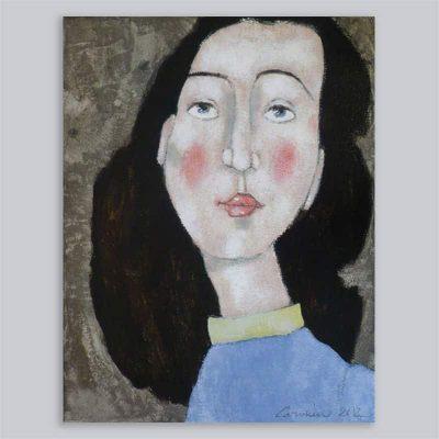 Portret gele board