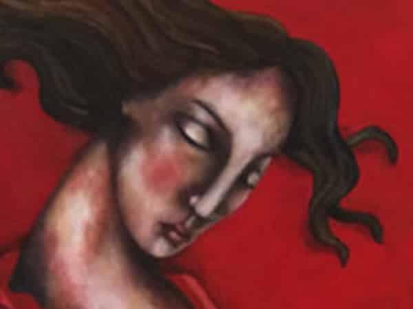 Schilderij Reset Rood