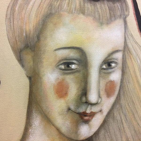 Schilderij Hartendame