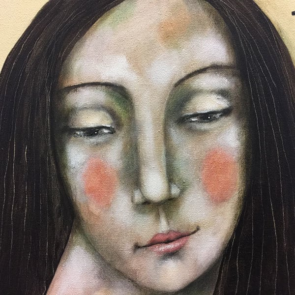 Schilderij Schoppenvrouw