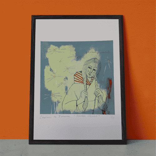 Kunstprint Gouden Vlecht