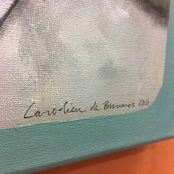 Schilderij Klaverenvrouw