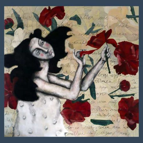 Schilderij Oktoberbloemen