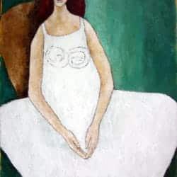 Beschermengel Vrouw in witte jurk