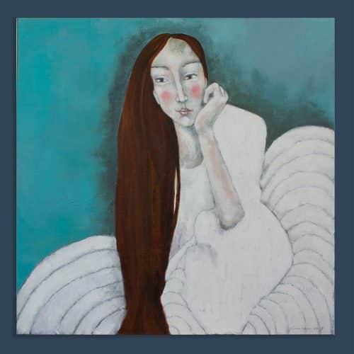 Schilderij Witte Kussen