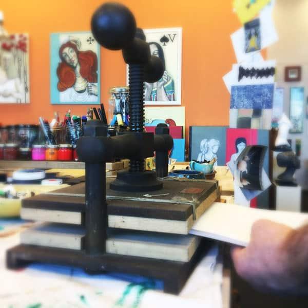 Workshop Linoleum