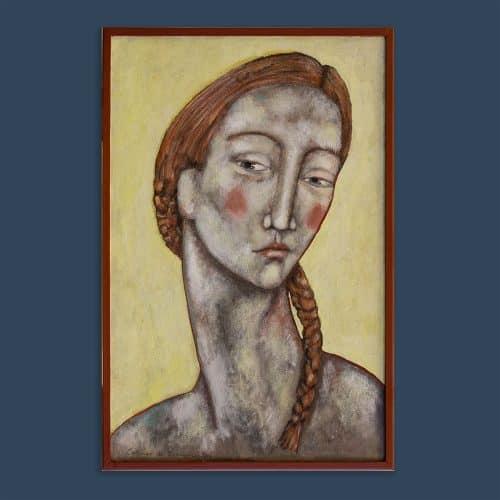 Schilderij portret oranjevlecht