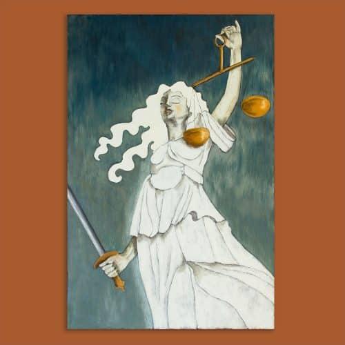 Vrouwe Justitia schilderij