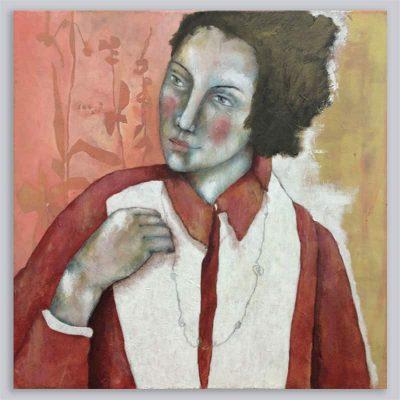 Schilderij Dame