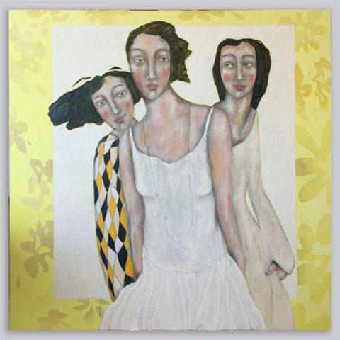 Schilderij Familie