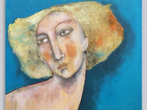 Schilderij Januarivrouw