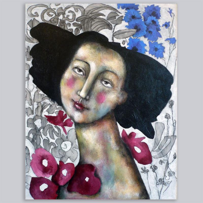Schilderij Korenbloemenblauw