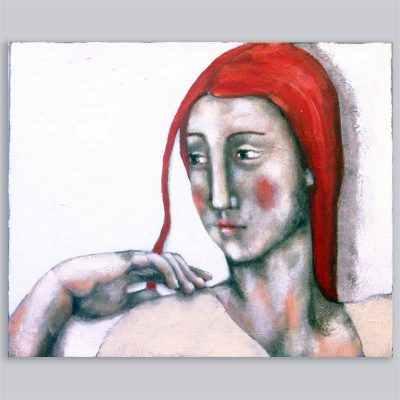 Schilderij Portret met rode haren