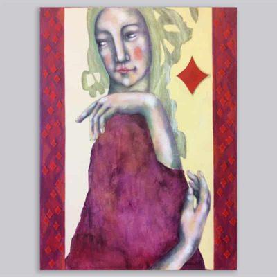 Schilderij Ruitenvrouw