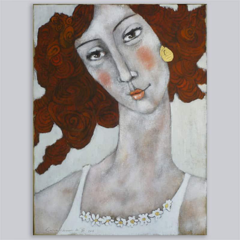 Schilderij Rode Krullen